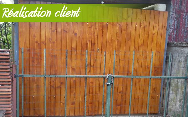 portail de garage en pin le blog du bois