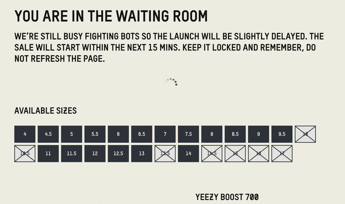 adidas waiting room time
