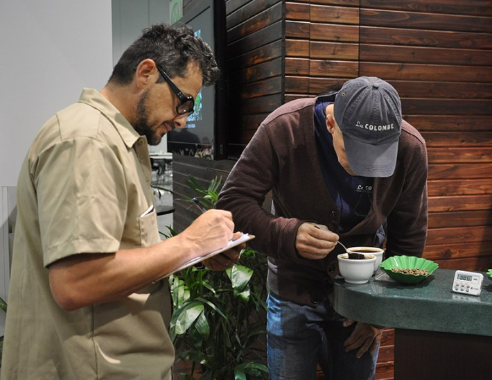 JP and Todd cupping at last year's SCAA