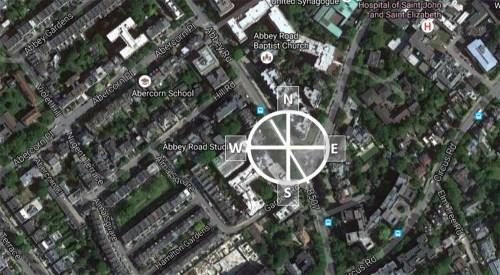 Puntos cardinales sobre la calle, importante para conocer la situación del sol.