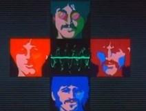 """El mar de la ciencia, algo que también era muy típico de la mente de John. Y la canción elegida es Only a northern song. Escrita en 1967, casualmente mientras se ideaba la película, pero no incluida en el Sargent Pepper's, sino en la banda sonora de la misma. Se dice que era una crítica a la compañía Northern songs, encargada de explotar el material Beatle y con la que habían tenido algunos problemas. Imagen de los tres Beatles con bigote, en la época del Sargent Pepper's, pero Paul no lo lleva, como si se tratara de una referencia al verdadero ya que, como sabemos, no existe ninguna imagen de él llevando mostacho. En el mar de la ciencia se está haciendo referencia a una canción que está """"fuera de tono"""", que suena mal. Los sonogramas que más tarde salen del oído de Paul… Se está haciendo alusión a evidencias sonoras. Los intentos de disimular la realidad de lo que ocurría, las grabaciones de canciones hechas por Paul, la voz de Faul y todo aquel trabajo que realizaban en aquel momento."""
