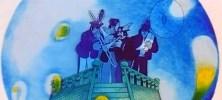 """Pero… ¿qué hay de la """"verdadera"""" banda del Sargento Pimienta? Claro, todavía está atrapada dentro del globo: JOHN: En Pepperland todo es posible. PAUL: Sólo es una esfera. JOHN: Hay algo dentro. RINGO: Cuatro sujetos. GEORGE: ¿Qué están haciendo? PAUL: No están de fiesta, eso seguro. JOHN: Somos nosotros. TODOS: Sargent Pepper's Lonely hearts club band. GEORGE: El parecido es asombroso. John empieza a filosofar mientras los demás tratan inútilmente de romper el globo: """"Ellos son extensiones de nuestra personalidad suspendidos como si fuera en el tiempo, congelados en el tiempo, según la relatividad"""". PAUL (interesantísimo): No podemos romper el vidrio, es a prueba de Beatles. RINGO: No, no hay nada así."""
