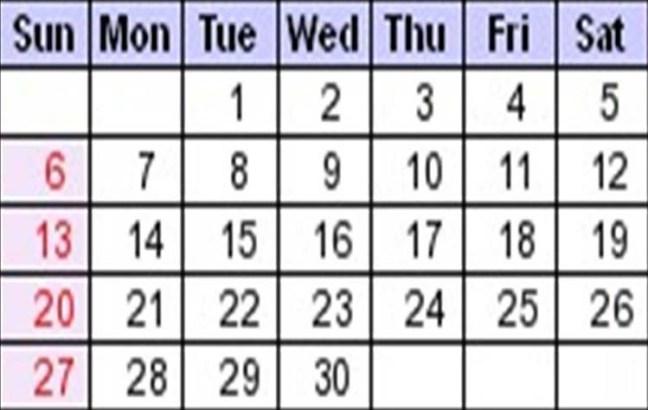 noviembre calendario