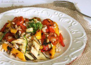 Farro con ratatouille di verdure grigliate, dimagrire senza fatica con ricette sane