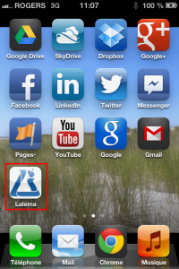 Lalema Site mobile | Icône sur iPhone