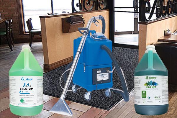 Tapis, extracteurs et nettoyants à tapis.