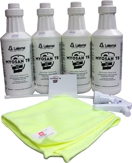 Une variété de désinfectants efficaces pour lutter contre les bactéries chez Lalema