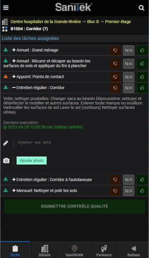contrôle qualité par Sanitek