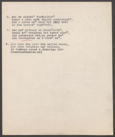 """Volkslied """"Auf de schwäbschen Eisenbahne"""" (1919) Sammlung Landesstelle für Volkskunde"""