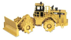 Caterpillar 836G Landfill Compactor - Item features articulated steering; oscillating rear - 1/50 Scale