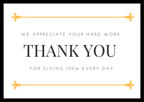 How to thank your employees.