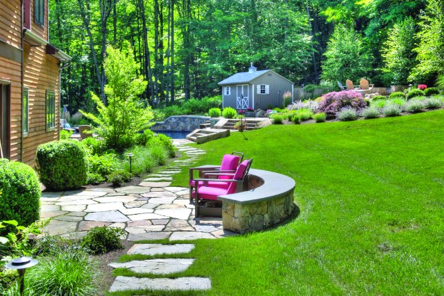 Hoffman Landscapes transforms the Miller residence into a country retreat.