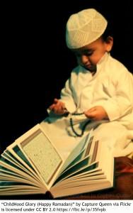 child reading a book ramadan multicultural bilingual