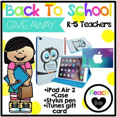 back to school giveaway from iTeachBilinguals
