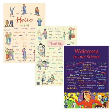 """Hello"" ""Welcome"" and ""Thank You"" posters in many languages"