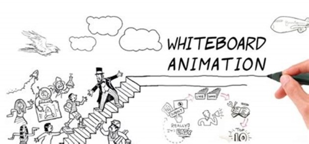 screenshot from a whiteboard video with a hand drawing people walking up stairs