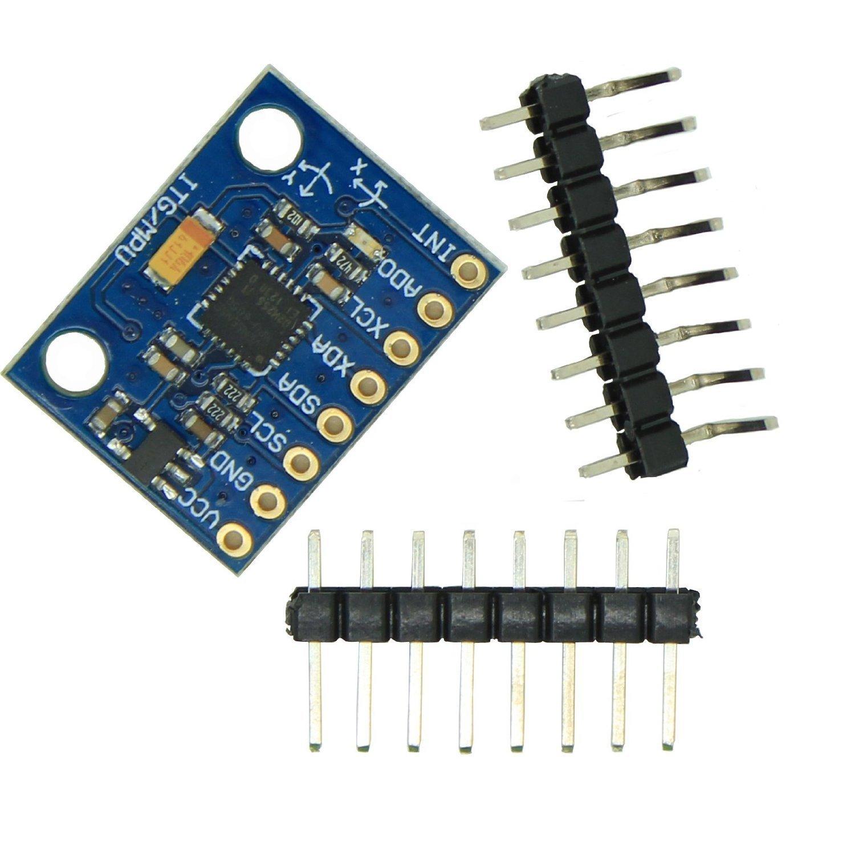 GY-521 Akcelerometr + Gyro, 3D Simulace