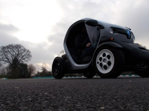 Twizy, drift, Deauville, Normandie, Calvados