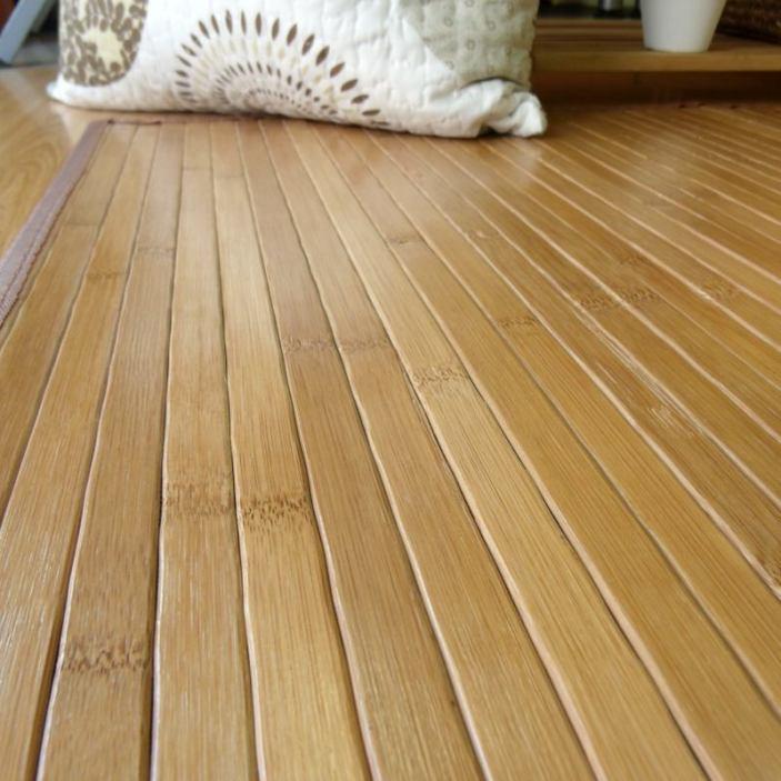 Alfombra de láminas de bambú natural