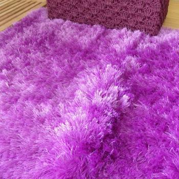 Alfombra efecto Shaggy lila