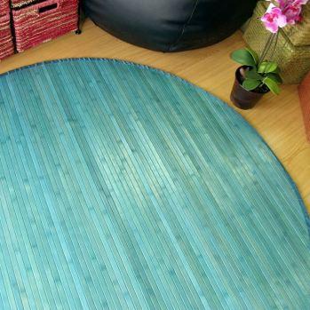 Alfombras de bambú redondas