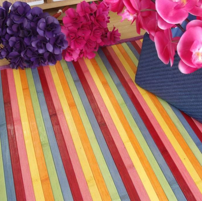 Ya est n aqu las nuevas alfombras de bamb multicolor - Alfombras de bambu baratas ...