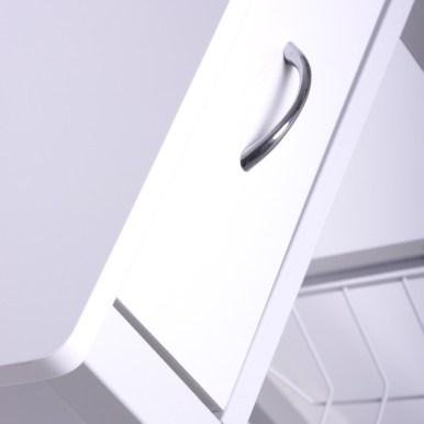 Mesita auxiliar de cocina blanca