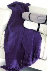 Manta de sofá violeta
