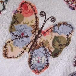 Cojín de mariposas