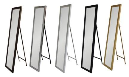 Espejos de cuerpo entero para suelo puerta y pared for Espejos de cuerpo entero con pie