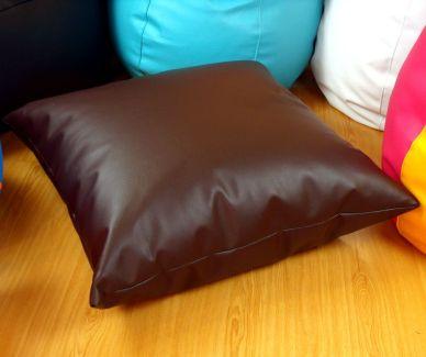 Cojín puff marrón