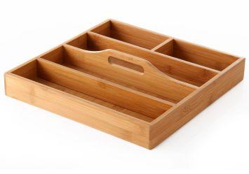 Separador de cubiertos de madera