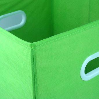 Caja verde plegable