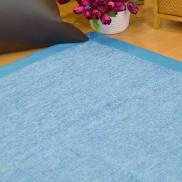 Alfombra azul de algodón