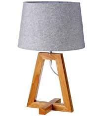 Lámpara de mesilla de madera