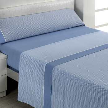 Juego de sábanas azul