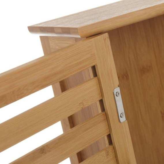 Estantería de bambú con puerta ventilada