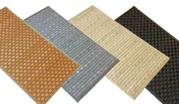 Esterillas de bambú con tela