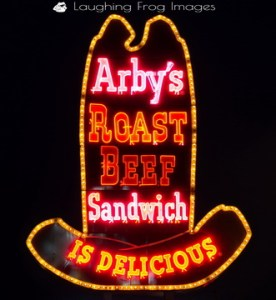 A Classic Arby's neon sign