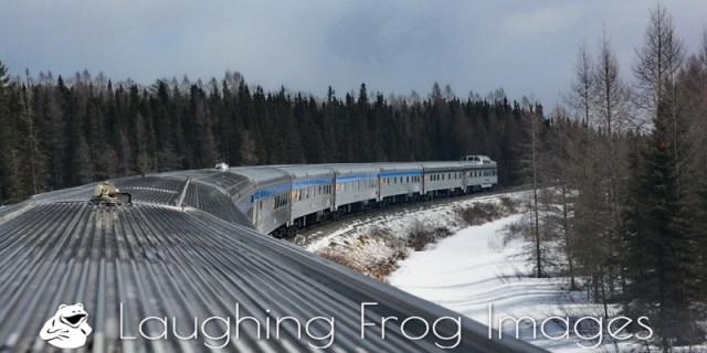VIA Rail Canada Train #1, The Canadian / le Canadien, east of Oba, ON.
