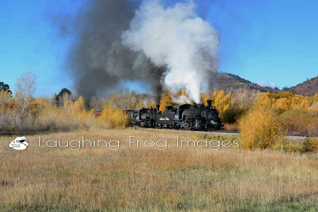 Cumbres and Toltec doubleheader at First Crossing