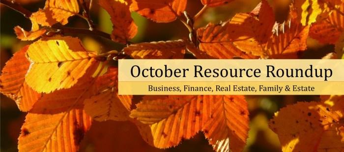 October Resource Roundup