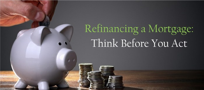 Refinancing a Mortgage: Think Before You Act
