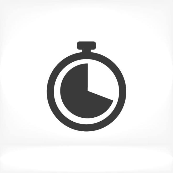 photo d'un chronomètre aidant une personne à répondre à la question suivante: combien de temps faut-il pour que l'huile de cdb agisse?