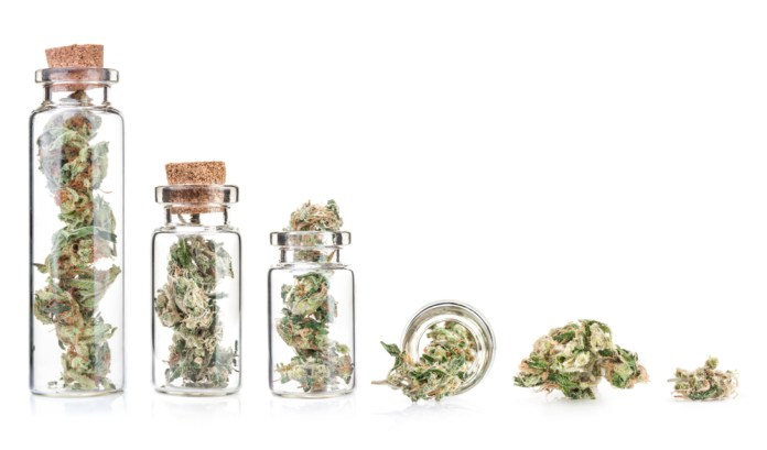 cannabis flower mini containers