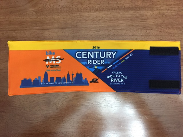 My well-earned Century Rider armband.