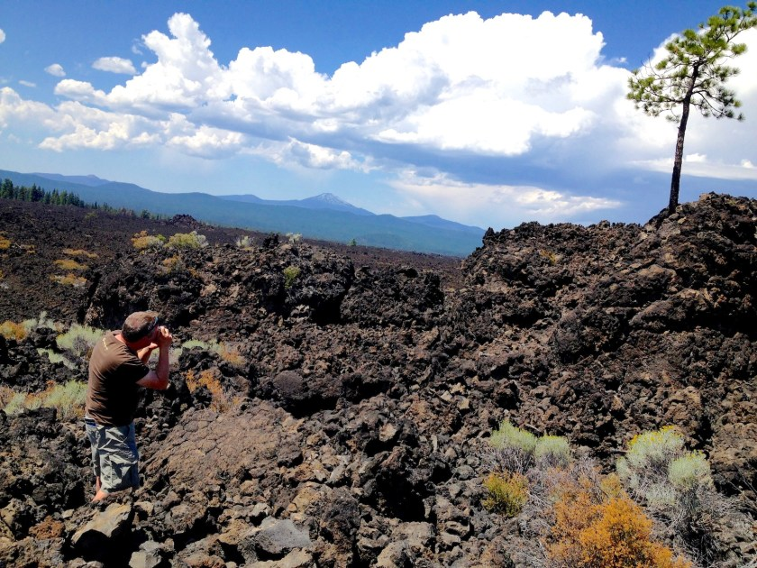 A photograph of me creating the original Lava Tree photo in 2014