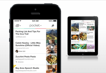 Image of Pocket app on phone and tablet