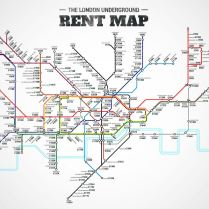 The London Underground rent map