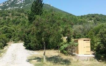 Cabine toilette sèches dans les Corbières